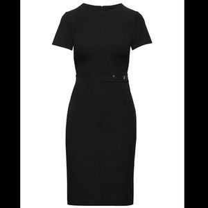 (Banana Republic) Black Dress with Two Buttons